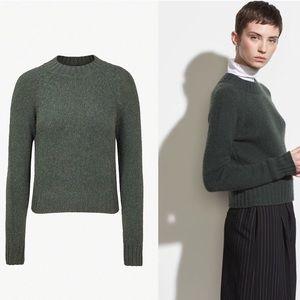 NWOT Vince 100% cashmere shrunken mock nk sweater